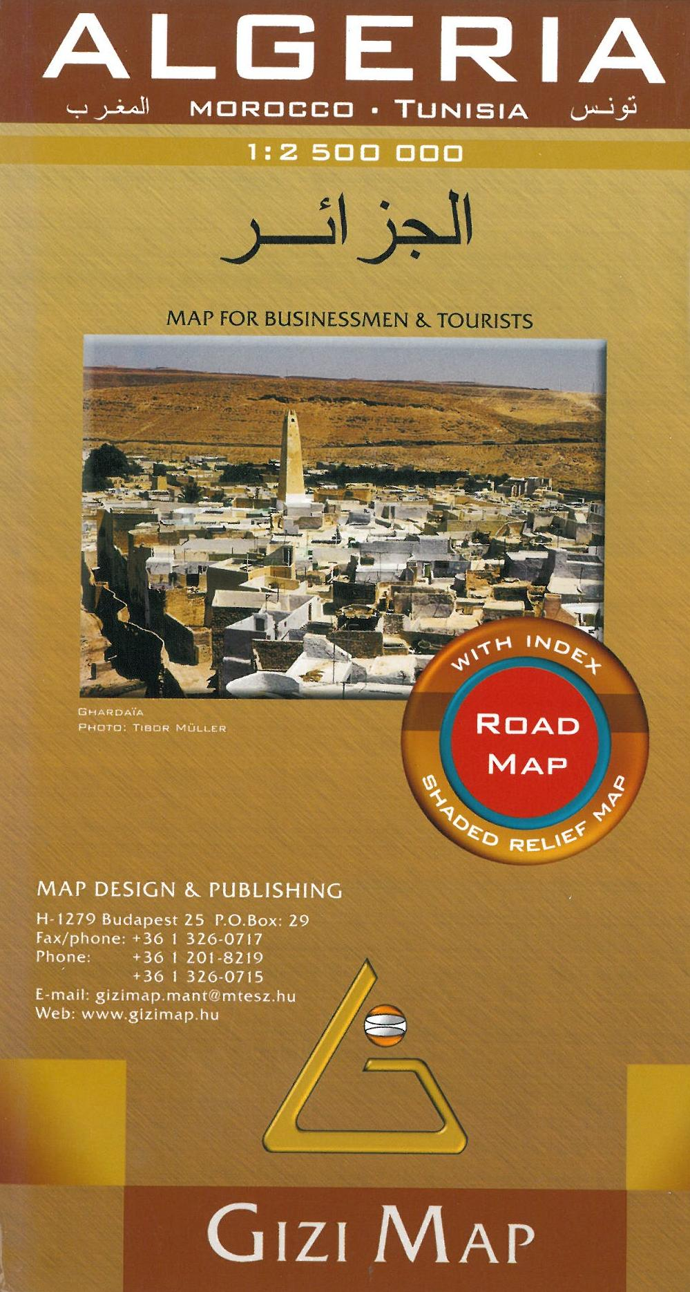 Algeria Road Map, Gizi Map 1:2,5 mill.