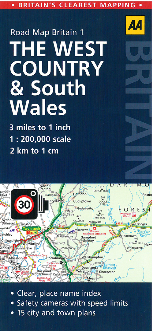 AA Road Map Britain 1: The West Country & South Wales