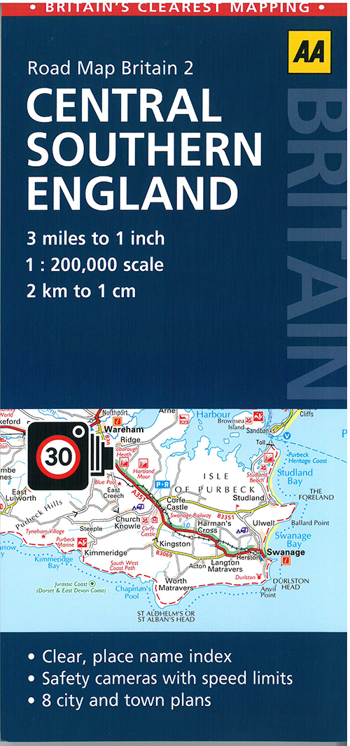 AA Road Map Britain 2: Central Southern England