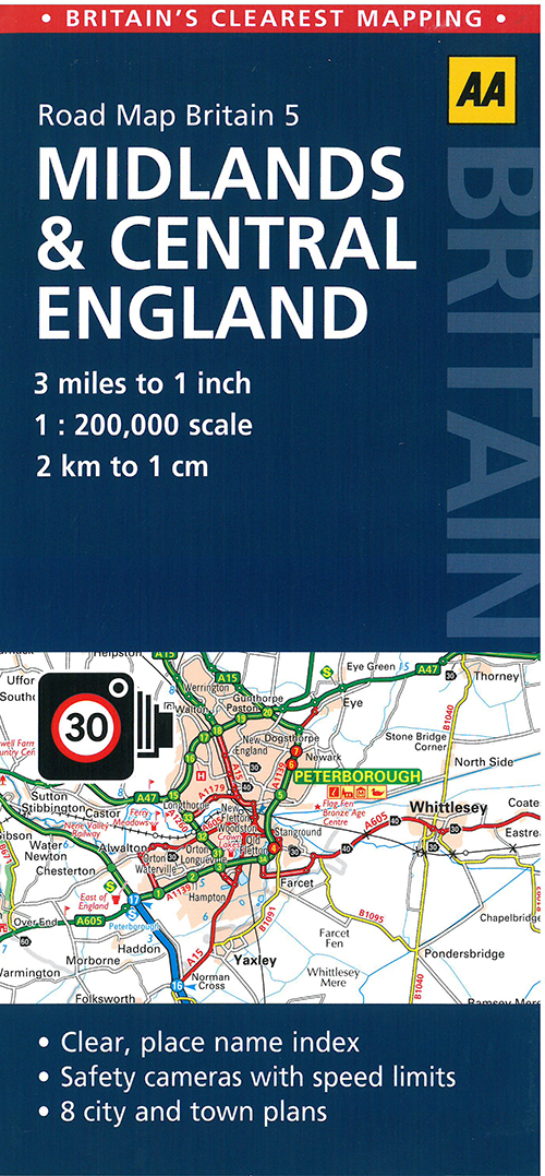 AA Road Map Britain 5: Midlands & Central England