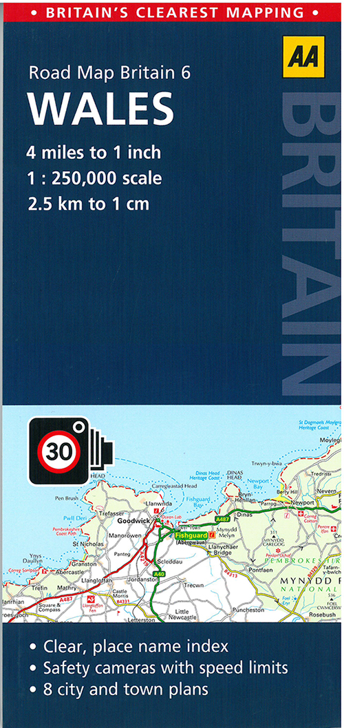 AA Road Map Britain 6: Wales