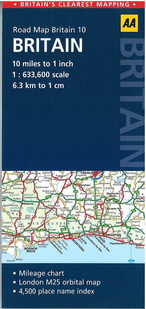 AA Road Map Britain 10: Britain