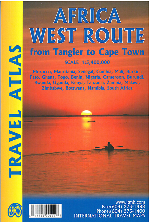 Africa West Route: From Tangier to Cape Town Travel Atlas