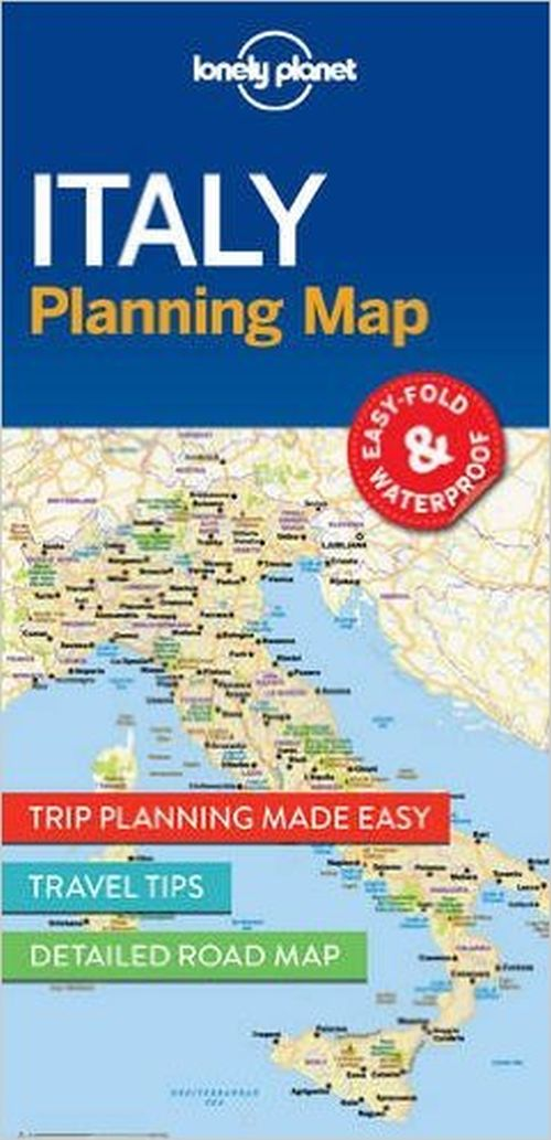 Lonely Planet Planning Map: Italy (1st ed. June 17)