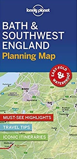 Lonely Planet Planning Map: Bath & Southwest England (1st ed. Mar. 19)