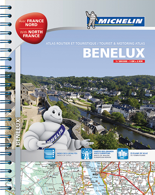 Benelux & North of France, Michelin Tourist & Motoring Atlas