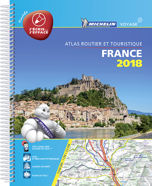 France 2018, Michelin Tourist & Motoring Atlas (A4/LAMINERET)