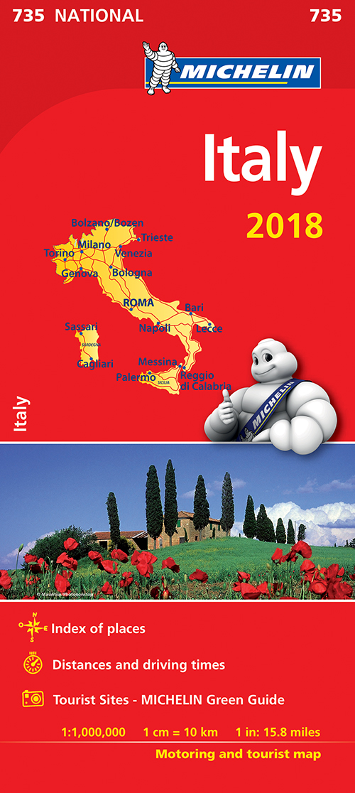 Italy 2018, Michelin National Map 735
