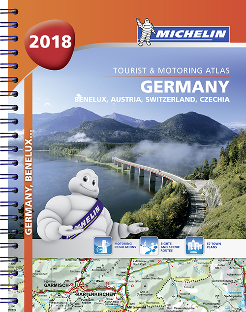 Germany, Benelux, Austria, Switzerland, Czech Republic 2018, Michelin Tourist & Motoring Atlas